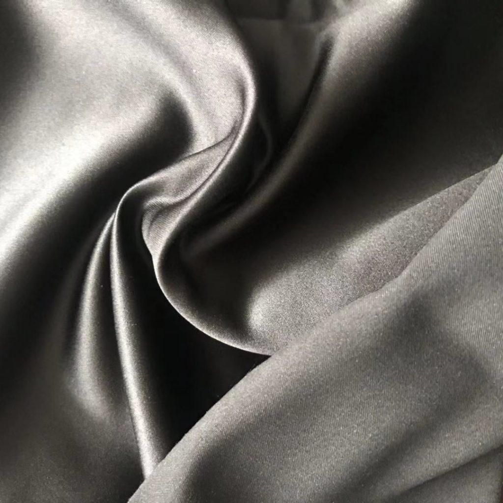 Polyester Satin Microfiber Fabric Peach Plain Dyed 170 gsm