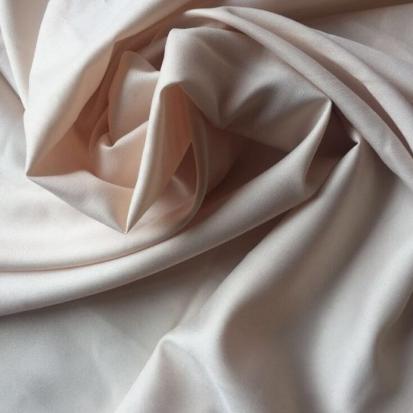 Polyester Twill Weaved Microfiber Fabric Peach Plain Dyed 110 gsm