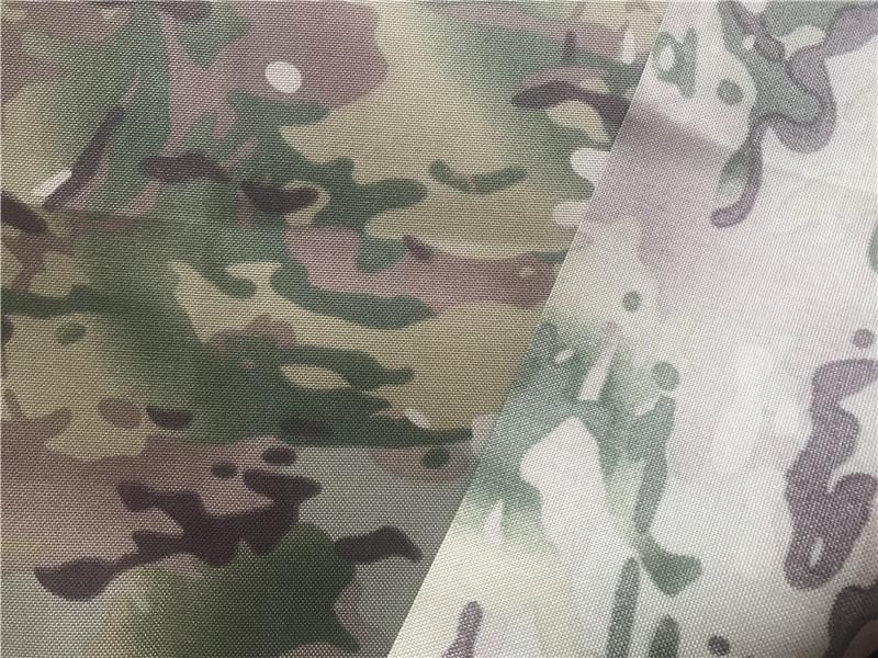 Nylon Cordura Fabric Multicam Camouflage Printed Pu Coating