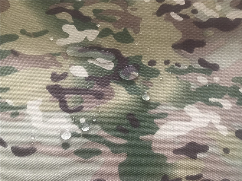 Nylon Cordura Fabric Multicam Kamuflase Dicetak Waterproof Pu Coating
