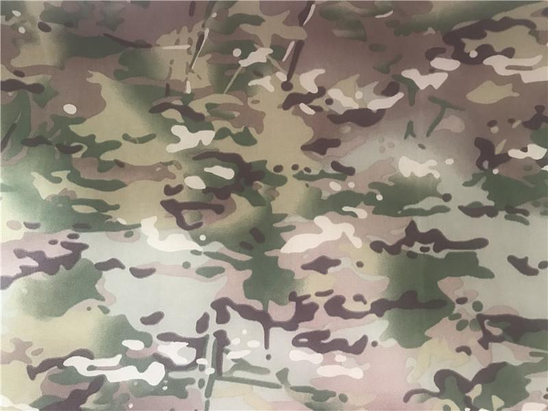 Nylon Cordura Fabric Multicam Camouflage Printed