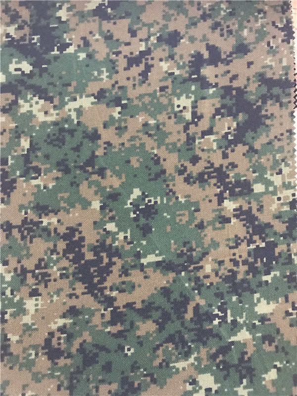 Nylon Cordura Fabric Digital Camouflage Printed Waterproof Pu Coating