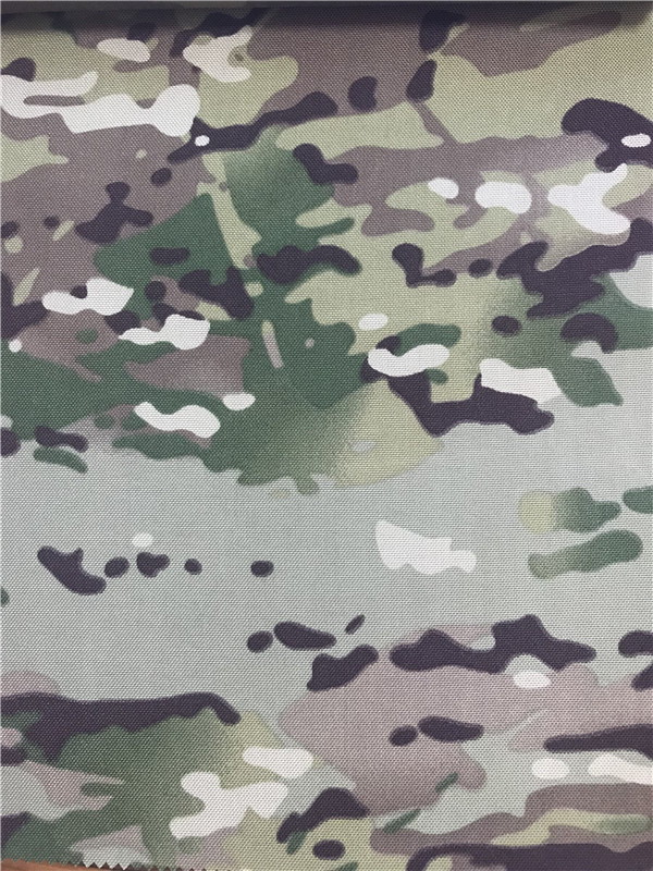 Nylon Cordura Fabric Multicam Camouflage Printed Waterproof Pu Coating